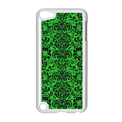 Damask2 Black Marble & Green Colored Pencil (r) Apple Ipod Touch 5 Case (white)