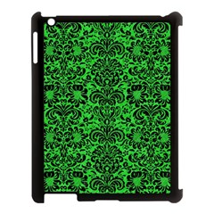 Damask2 Black Marble & Green Colored Pencil (r) Apple Ipad 3/4 Case (black)