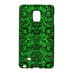Damask2 Black Marble & Green Colored Pencil (r) Galaxy Note Edge