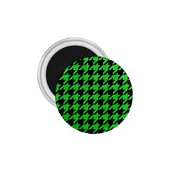 Houndstooth1 Black Marble & Green Colored Pencil 1 75  Magnets