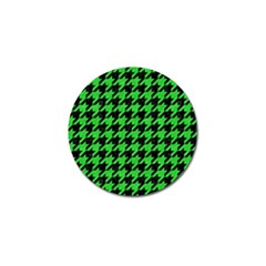 Houndstooth1 Black Marble & Green Colored Pencil Golf Ball Marker (10 Pack)