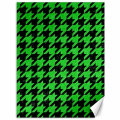 Houndstooth1 Black Marble & Green Colored Pencil Canvas 36  X 48