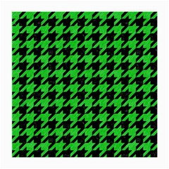 Houndstooth1 Black Marble & Green Colored Pencil Medium Glasses Cloth (2 Side)