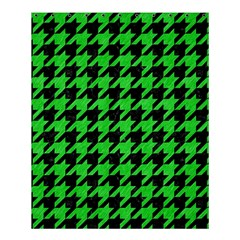 Houndstooth1 Black Marble & Green Colored Pencil Shower Curtain 60  X 72  (medium)