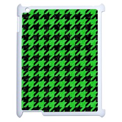 Houndstooth1 Black Marble & Green Colored Pencil Apple Ipad 2 Case (white)