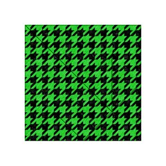 Houndstooth1 Black Marble & Green Colored Pencil Acrylic Tangram Puzzle (4  X 4 )