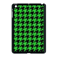 Houndstooth1 Black Marble & Green Colored Pencil Apple Ipad Mini Case (black)