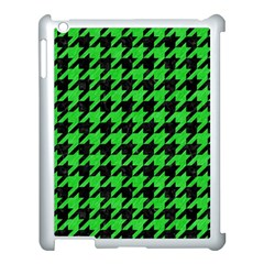 Houndstooth1 Black Marble & Green Colored Pencil Apple Ipad 3/4 Case (white)