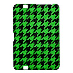 Houndstooth1 Black Marble & Green Colored Pencil Kindle Fire Hd 8 9