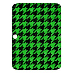 Houndstooth1 Black Marble & Green Colored Pencil Samsung Galaxy Tab 3 (10 1 ) P5200 Hardshell Case