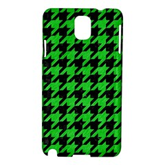 Houndstooth1 Black Marble & Green Colored Pencil Samsung Galaxy Note 3 N9005 Hardshell Case