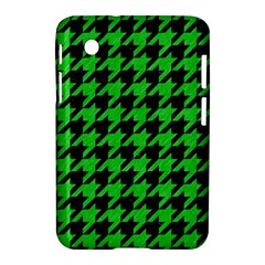 Houndstooth1 Black Marble & Green Colored Pencil Samsung Galaxy Tab 2 (7 ) P3100 Hardshell Case