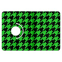 Houndstooth1 Black Marble & Green Colored Pencil Kindle Fire Hdx Flip 360 Case