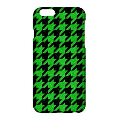 Houndstooth1 Black Marble & Green Colored Pencil Apple Iphone 6 Plus/6s Plus Hardshell Case