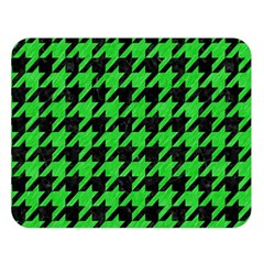 Houndstooth1 Black Marble & Green Colored Pencil Double Sided Flano Blanket (large)