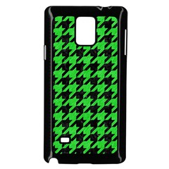 Houndstooth1 Black Marble & Green Colored Pencil Samsung Galaxy Note 4 Case (black)