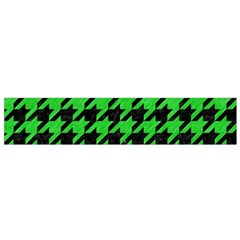 Houndstooth1 Black Marble & Green Colored Pencil Flano Scarf (small)