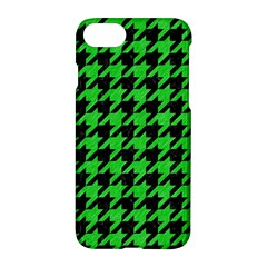Houndstooth1 Black Marble & Green Colored Pencil Apple Iphone 7 Hardshell Case