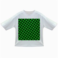 Houndstooth2 Black Marble & Green Colored Pencil Infant/toddler T Shirts