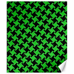 Houndstooth2 Black Marble & Green Colored Pencil Canvas 20  X 24