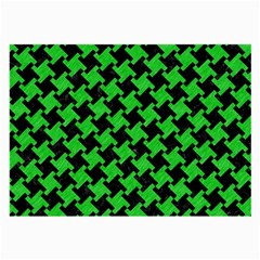Houndstooth2 Black Marble & Green Colored Pencil Large Glasses Cloth (2 Side)