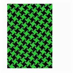 Houndstooth2 Black Marble & Green Colored Pencil Large Garden Flag (two Sides)