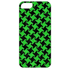 Houndstooth2 Black Marble & Green Colored Pencil Apple Iphone 5 Classic Hardshell Case