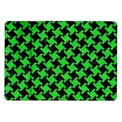 Houndstooth2 Black Marble & Green Colored Pencil Samsung Galaxy Tab 10 1  P7500 Flip Case