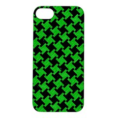 Houndstooth2 Black Marble & Green Colored Pencil Apple Iphone 5s/ Se Hardshell Case