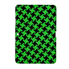 Houndstooth2 Black Marble & Green Colored Pencil Samsung Galaxy Tab 2 (10 1 ) P5100 Hardshell Case