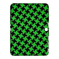 Houndstooth2 Black Marble & Green Colored Pencil Samsung Galaxy Tab 4 (10 1 ) Hardshell Case