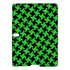 Houndstooth2 Black Marble & Green Colored Pencil Samsung Galaxy Tab S (10 5 ) Hardshell Case