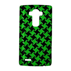 Houndstooth2 Black Marble & Green Colored Pencil Lg G4 Hardshell Case