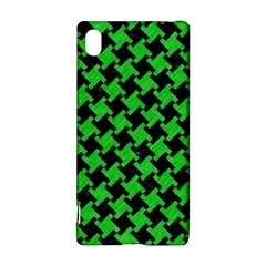 Houndstooth2 Black Marble & Green Colored Pencil Sony Xperia Z3+