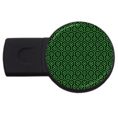 Hexagon1 Black Marble & Green Colored Pencil Usb Flash Drive Round (4 Gb)