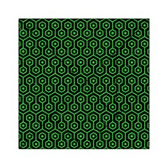 Hexagon1 Black Marble & Green Colored Pencil Acrylic Tangram Puzzle (6  X 6 )
