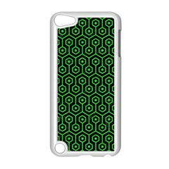Hexagon1 Black Marble & Green Colored Pencil Apple Ipod Touch 5 Case (white)