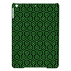 Hexagon1 Black Marble & Green Colored Pencil Ipad Air Hardshell Cases