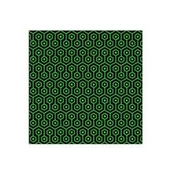 Hexagon1 Black Marble & Green Colored Pencil Satin Bandana Scarf