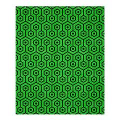 Hexagon1 Black Marble & Green Colored Pencil (r) Shower Curtain 60  X 72  (medium)
