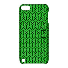 Hexagon1 Black Marble & Green Colored Pencil (r) Apple Ipod Touch 5 Hardshell Case With Stand