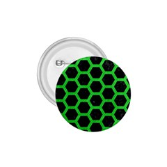 Hexagon2 Black Marble & Green Colored Pencil 1 75  Buttons