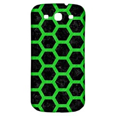 Hexagon2 Black Marble & Green Colored Pencil Samsung Galaxy S3 S Iii Classic Hardshell Back Case