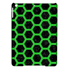 Hexagon2 Black Marble & Green Colored Pencil Ipad Air Hardshell Cases