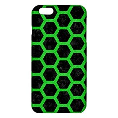 Hexagon2 Black Marble & Green Colored Pencil Iphone 6 Plus/6s Plus Tpu Case