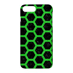 Hexagon2 Black Marble & Green Colored Pencil Apple Iphone 7 Plus Hardshell Case