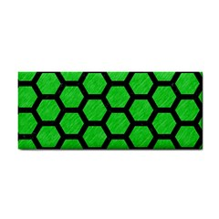 Hexagon2 Black Marble & Green Colored Pencil (r) Cosmetic Storage Cases