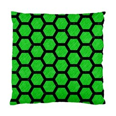 Hexagon2 Black Marble & Green Colored Pencil (r) Standard Cushion Case (two Sides)