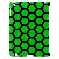 Hexagon2 Black Marble & Green Colored Pencil (r) Apple Ipad 3/4 Hardshell Case (compatible With Smart Cover)