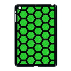 Hexagon2 Black Marble & Green Colored Pencil (r) Apple Ipad Mini Case (black)
